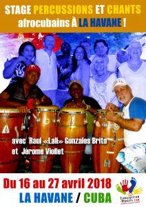 Stage de percussions à CUBA @ La Havane | La Havane | La Havane | Cuba